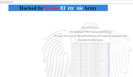 Viber hacked by Syrian Electronic Army         -          Hack Reports