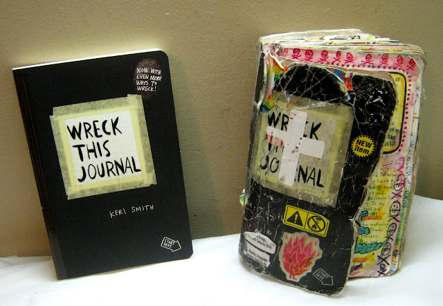 Wreck this journal before and after... wow
