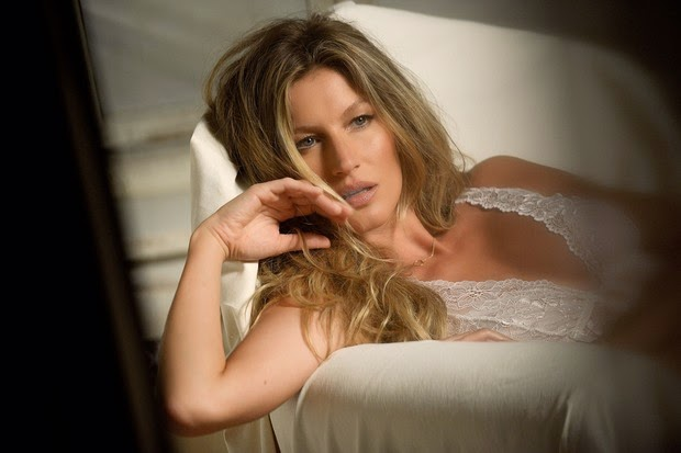 Gisele Bundchen poses for lingerie campaign