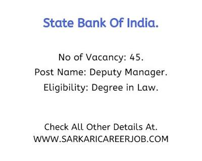 SBI Requirements 2020 | 45 Deputy Manager SBI Vacancies 2020.