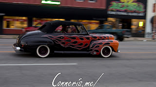 Draggin Douglas Flames on Black Hot Rod