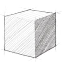 A drawing of a box.