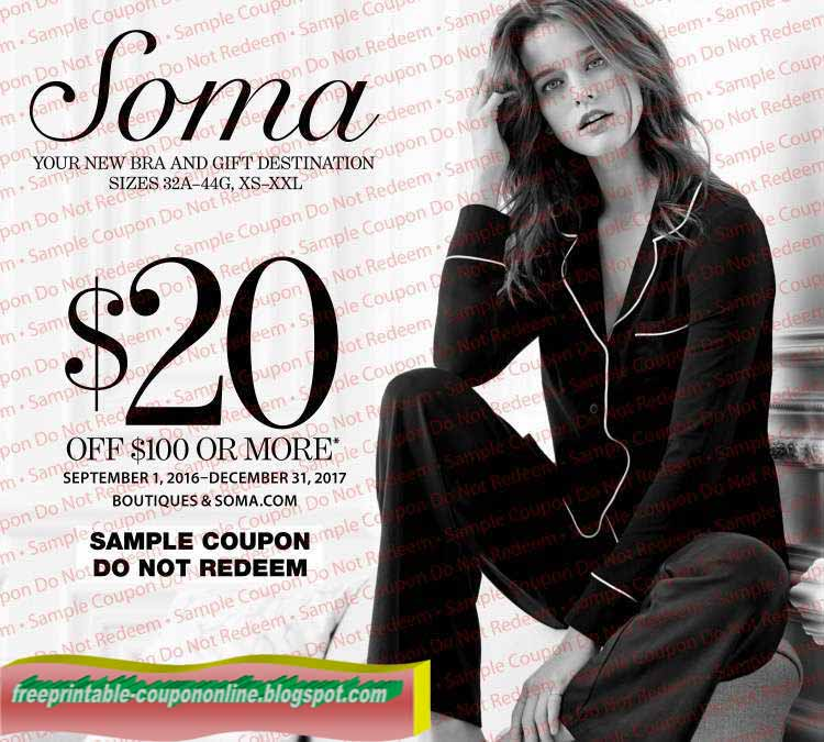 Soma coupons printable