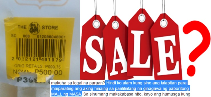 Netizen claims SM's on sale item price higher than original