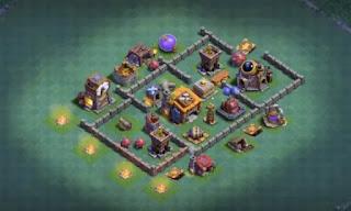 Builder Hall 4 Anti 3 Star Bases