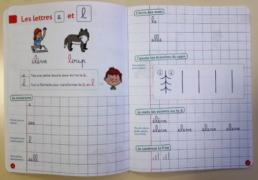 cahier de classe et d'écriture