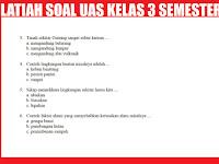 Latihan Soal UAS Kelas 3 SD/MI Semester 1 (Ganjil)