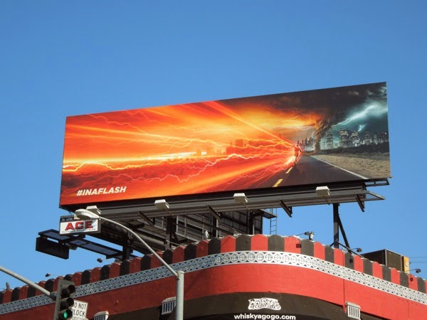 The Flash CW series premiere billboard
