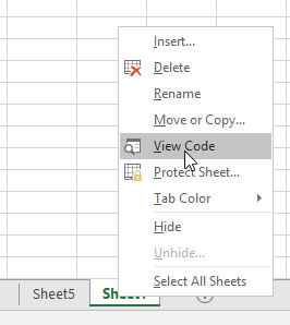 How To Show VBA Code