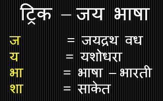Gk Trick Hindi : मैथलीशरण गुप्त की प्रमुख रचना