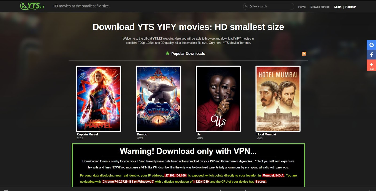 wanted yify torrent magnet
