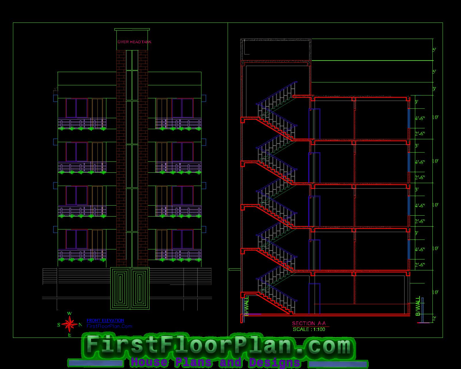 5 Story Apartment Building Designs