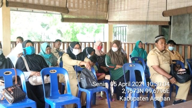 Personel jaajran Kodim 0208/Asahan Hadiri Rapat pembentukan Tim Relawan Pemutakhiran Data SDGs Desa dan INDEX Desa Membangun (IDM)
