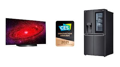 LG สร้างสถิติครั้งใหม่ กวาดรางวัลจากงาน CES  ซึ่งถูกจัดขึ้นแบบดิจิทัลอย่างเต็มรูปแบบเป็นครั้งแรก  ครอบครองมากกว่า 190 รางวัล รวมถึงรางวัล ทีวีชั้นนำของตลาด LG OLED  ที่ได้รับรางวัลนี้ต่อเนื่องเป็นปีที่ 7