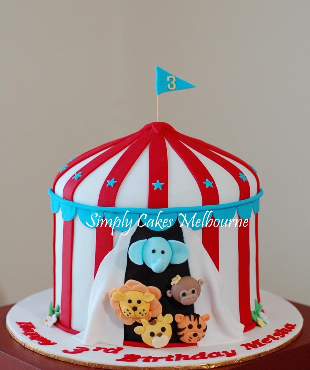 Circus Birthday Cake Melbourne