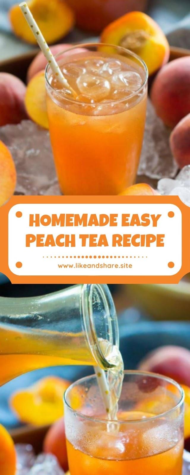 HOMEMADE EASY PEACH TEA RECIPE