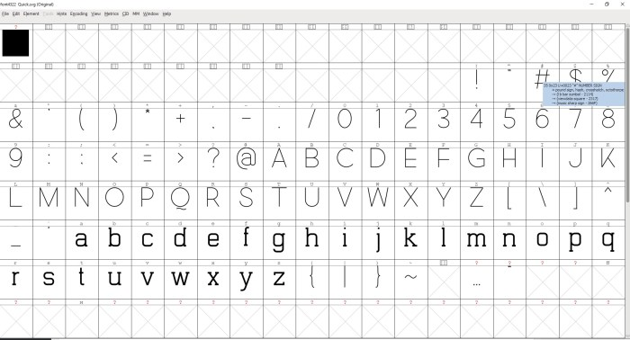 FontForge Software - Interface