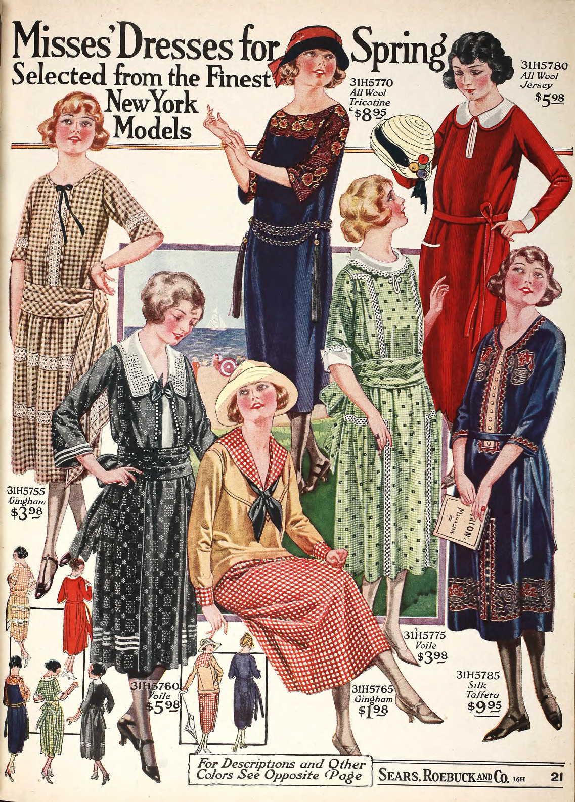 1920s Fashion Service Magazine June 1928 Bathing Suit: Snapped Garters: Sailor/Nautical Chic