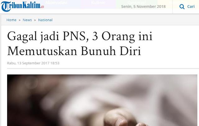 Gagal Jadi PNS, Tidak Perlu Bersedih