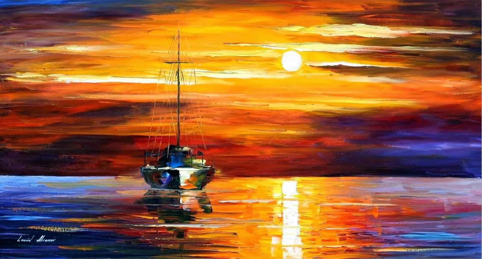 Drawing Lines With Oil Paint : Pintura moderna y fotografía artística paisajes marinos