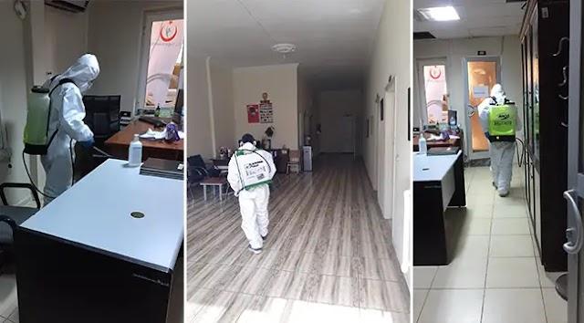 Bozova'da Aile Sağlık Merkezleri dezenfekte edildi