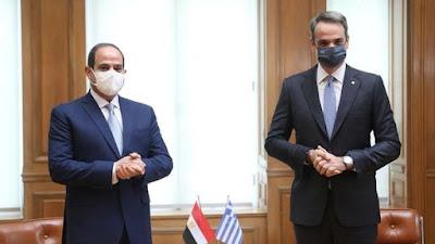 Egypt's President Abdel-Fattah El-Sisi and Greek Prime Minister Kyriakos Mitsotakis