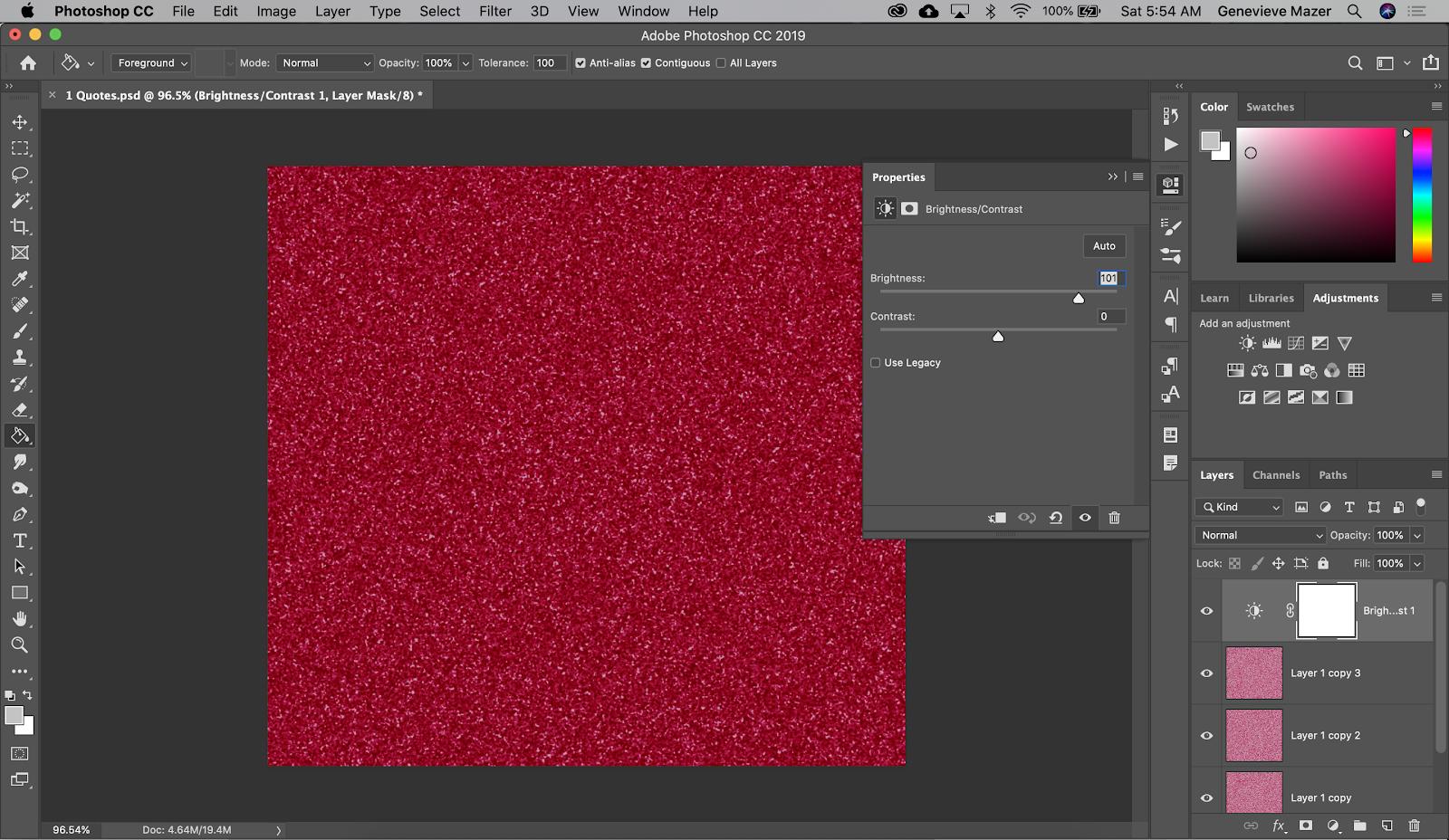 glitter paper in photoshop