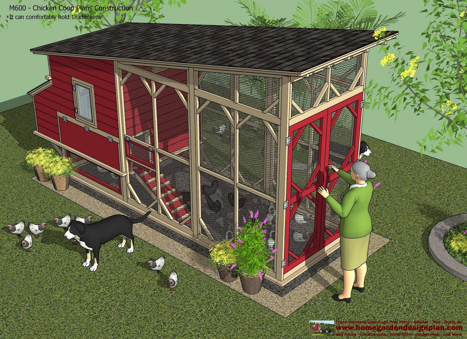 M600 Chicken Coop Plans Construction Chicken Coop Design How To Build ...