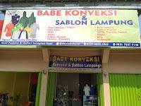 Babe Konveksi dan Sablon Lampung, Tempat Bikin Kaos Berkualitas, Harga Terjangkau