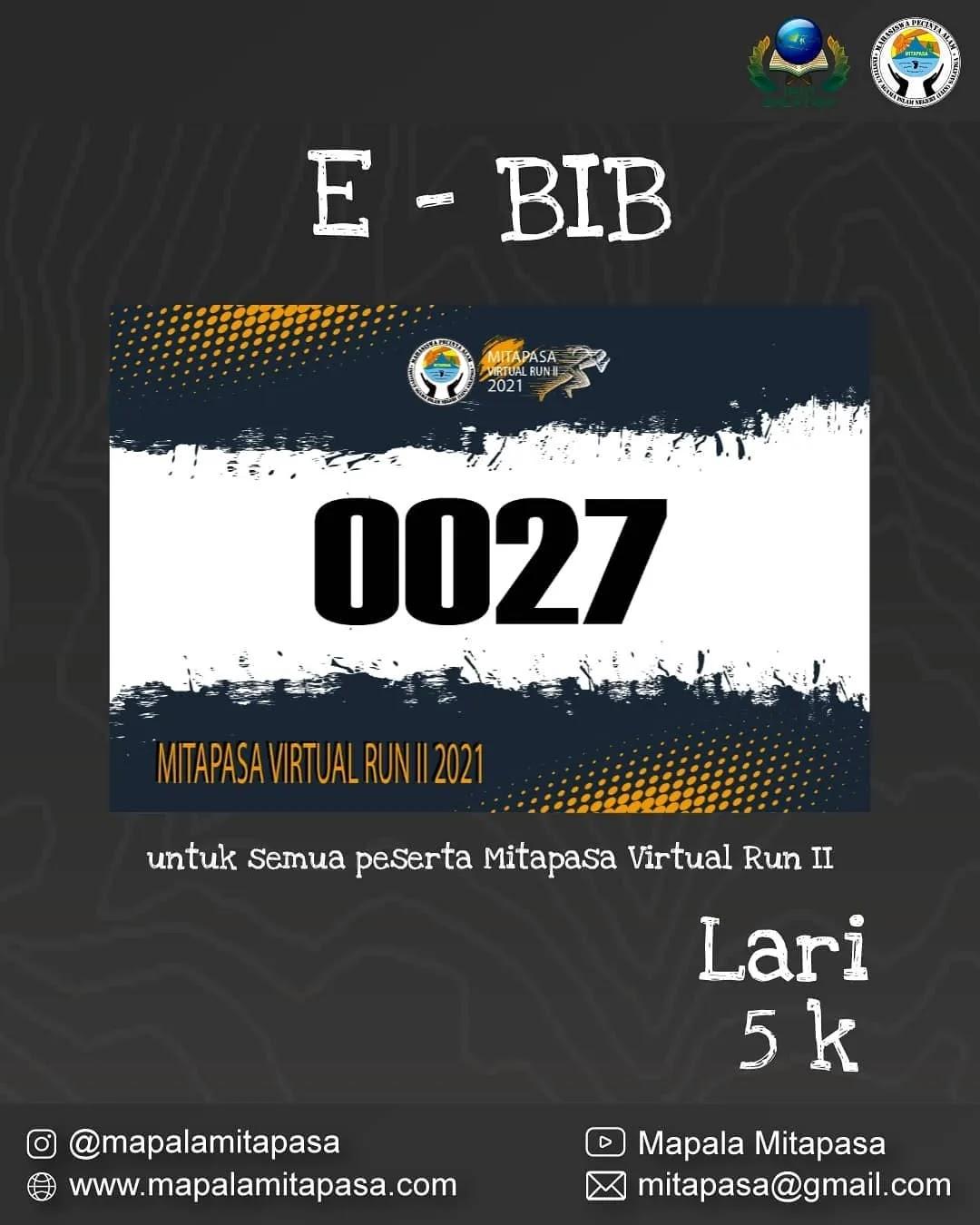e-Bib 💳 Mitapasa Virtual Run II • 2021