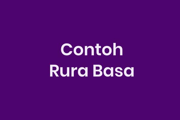 Contoh Kalimat Rura Basa Bahasa Jawa dan Terjemahan