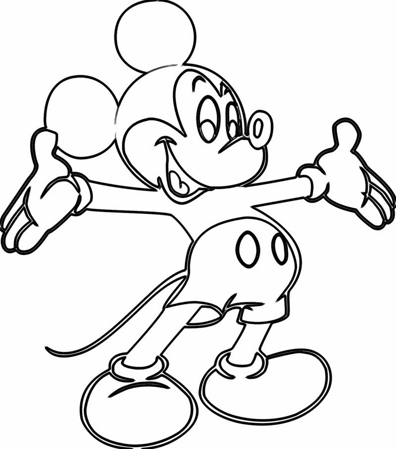 coloring pages for kids mickey mouse | Free Online Printable Coloring Pages How to Draw HD Videos ...