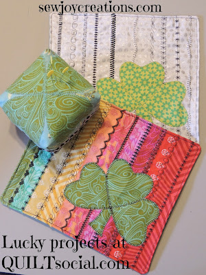 selvage projects for March and St. Patrick's Day sewing