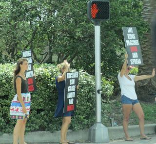 Karen protesting