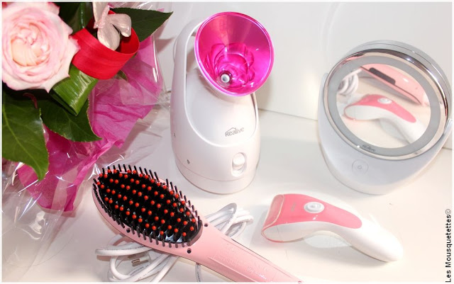 KEALIVE - Sauna Visage, Brosse Lissante, Pédicure Electrique, Miroir Lumineux LED - Blog beauté Les Mousquetettes©