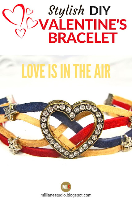 Stylish DIY Leather Valentine's Bracelet inspiration sheet