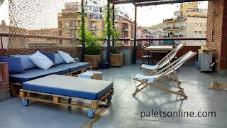 terraza europalet reciclado espuma azul paletsonline.com