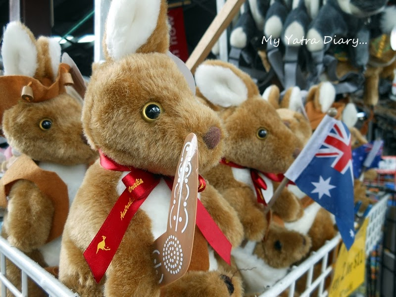 Simply aussie souvenirs at souvenirs in Queen Victoria Market, Melbourne