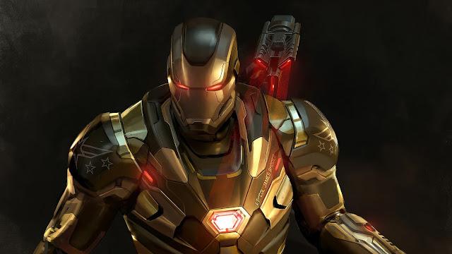Máquina e Combate Vingadores Papel de Parede