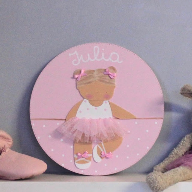 placa puerta infantil personalizada bailarina de ballet