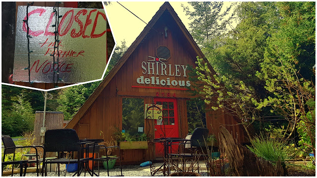 The Shirley Delicious Cafe sits empty...