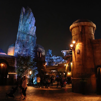 Star Wars Galaxy's Edge at Night 3