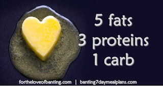 5 Fats, 3 Proteins, 1 Carb (3 meals per day)