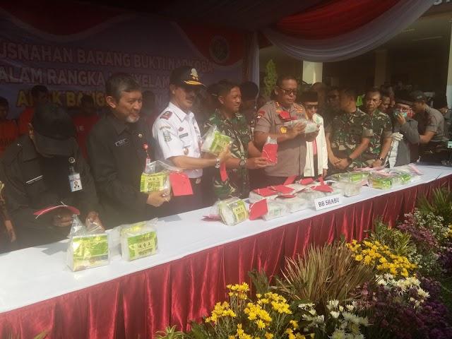 Polda Jatim Musnahkan Narkoba Hasil Ungkap 2019