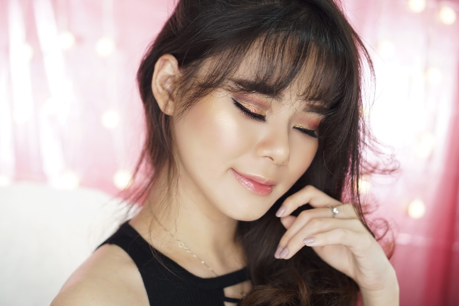 makeup, tutorial makeup, makeup tutorial, glam makeup, valentine makeup, valentine, tutorial, glam, jean milka, beauty blogger indonesia, beauty guru, beauty guru indonesia
