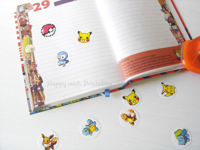 DIY pokémon stickers,pokémon go, pikachu sticker,pikachu,pokemon,pokemon crafts, back to school stickers,pokemon party