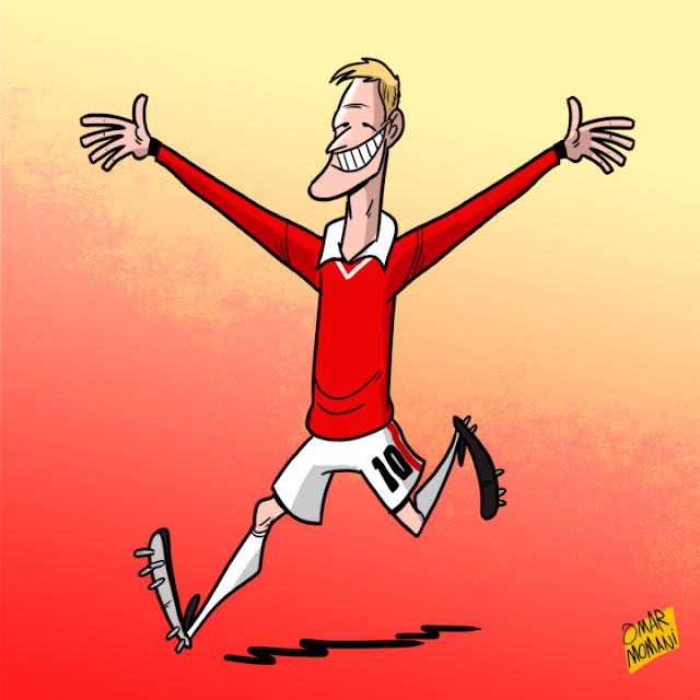 Teddy Sheringham cartoon