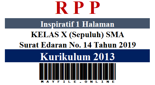 RPP Inspiratif 1 Lembar K-2013 Kelas 10 SMA Semester 2