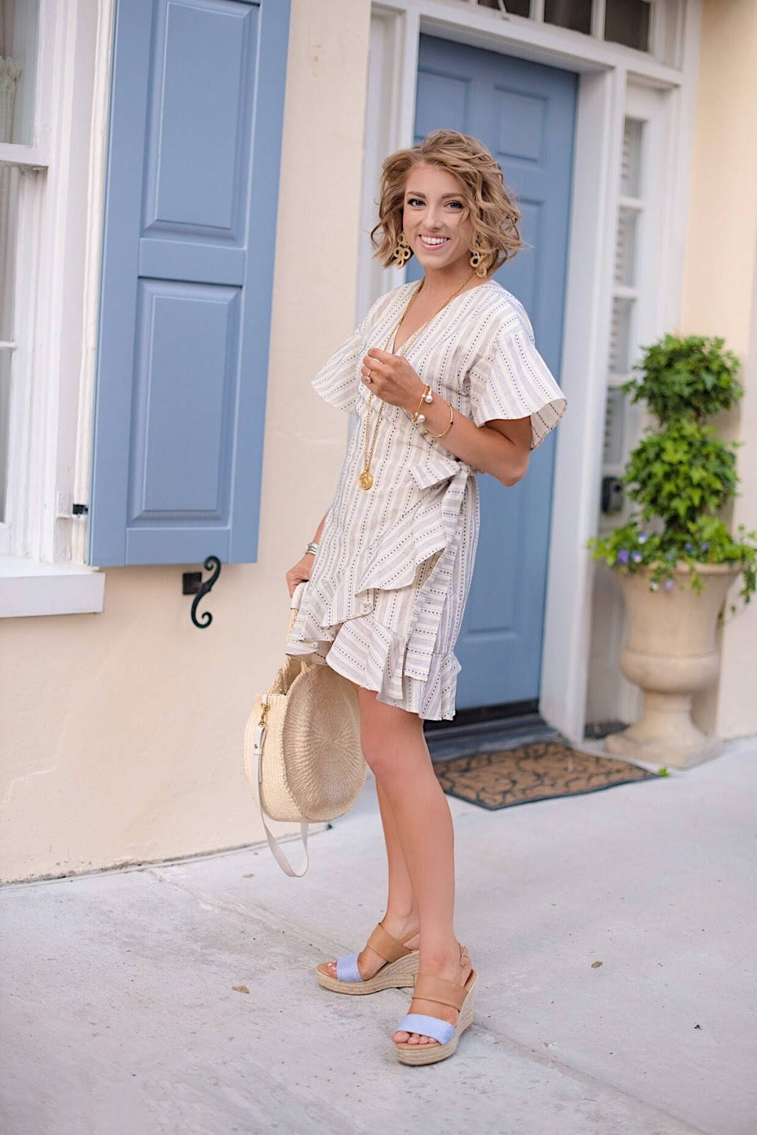 J.O.A. Wrap Dress (Under $90) - Something Delightful Blog