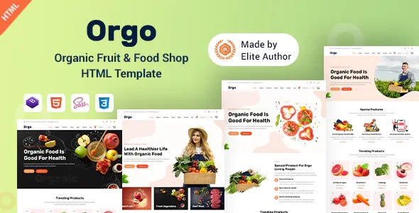 Best Organic Food Shop HTML Template